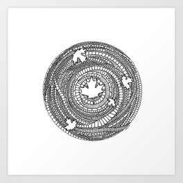 Canadian Maple Art Print