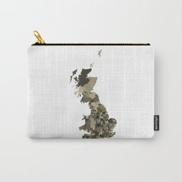 Great Britain Map Print Abstract in Camouflage Desert - A great talking piece for the home! Carry-All Pouch