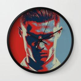 CristianoRonaldo pop art Wall Clock