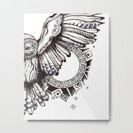 Owl of Athena Metal Print