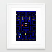 pacman Framed Art Prints featuring Pacman by Dano77