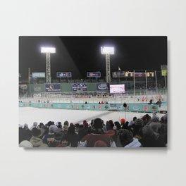 Hockey in Fenway Metal Print
