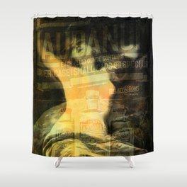 Laudanum, Vintage Advertisement Collage Shower Curtain