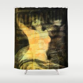 Laudanum, Vintage Advertisement Collage Shower Curtain