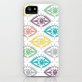 """""""I see you"""" 80s eye pattern iPhone Case"""