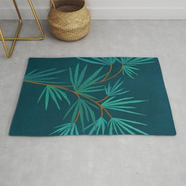 Night Palm / Night Scene Series Rug