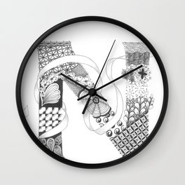 "Zenletter ""N"" Wall Clock"