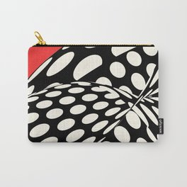 Wavy Dots on Red Carry-All Pouch