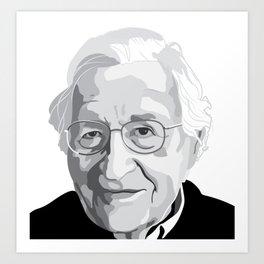 Noam Chomsky Art Print