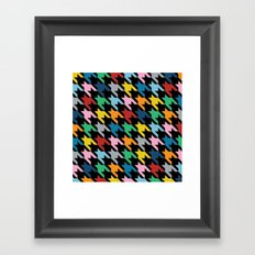 Dogtooth New on Black Framed Art Print
