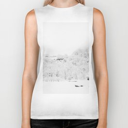 Winter Forest (Black and White) Biker Tank