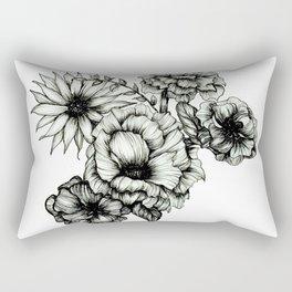 Floral Ink III Rectangular Pillow