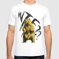 WTF bear Mens Fitted Tee White MEDIUM