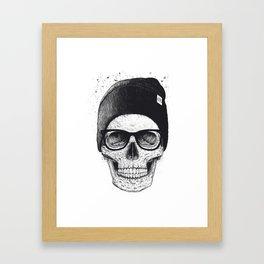Black Skull in a hat Framed Art Print