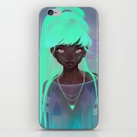 loish iPhone & iPod Skins featuring lumen by loish