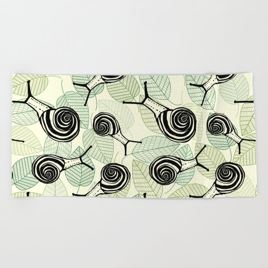 Snails Beach Towel