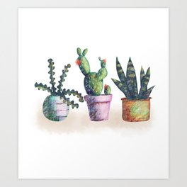 Cacti for cactuslovers Art Print