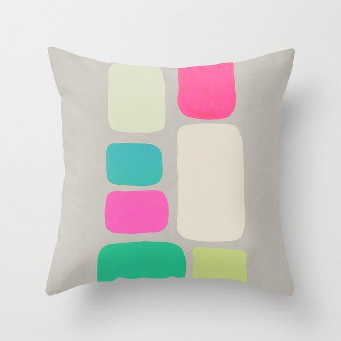 colour + pattern 2 Throw Pillow