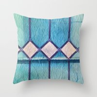 window Throw Pillows featuring window by Claudia Drossert