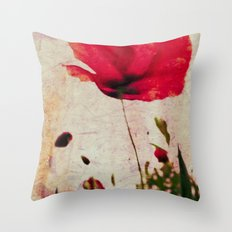 Heavy Poppy Throw Pillow