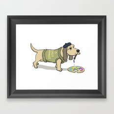 A Painting Dog Framed Art Print