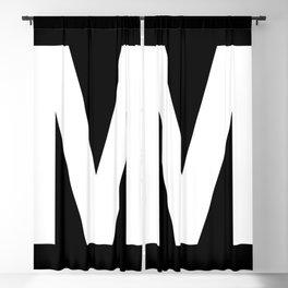Letter M (White & Black) Blackout Curtain