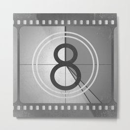 Countdown Film Metal Print