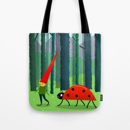 Best friends or a Dwarf and a Ladybug Tote Bag