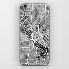 Dallas Texas City Map iPhone Skin