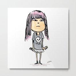 Rad Girl Metal Print
