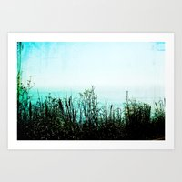 big sur Art Prints featuring Big Sur by Mermaid's Coin Surf Art * by Hannah Kata