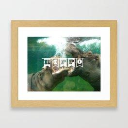 hippo...hippo... Framed Art Print