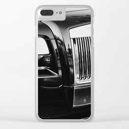 Rolls Grille // Black Luxury Car Close Up Photography Expensive Ultra Wealthy Autos Clear iPhone Case