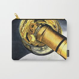 White Wine Art - Lap Of Luxury - By Sharon Cummings Carry-All Pouch