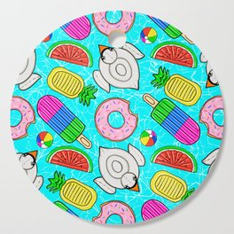 Pool Float Party Cutting Board