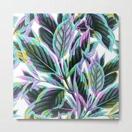 Tropical Leaves Pattern Metal Print