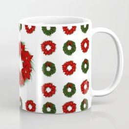 Christmas Wreath Pattern Coffee Mug