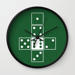Green Unrolled D6 Wall Clock
