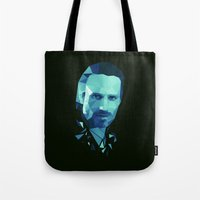 rick grimes Tote Bags featuring Rick Grimes - The Walking Dead by Dr.Söd