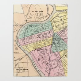 Vintage Map of Dayton Ohio (1872) Poster