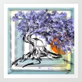 The Violet Tree Art Print