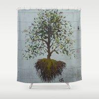 dublin Shower Curtains featuring Dublin Art by Ashley Callan