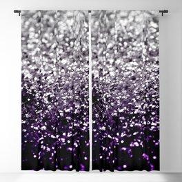 Dark Night Purple Black Silver Glitter #1 #shiny #decor #art #society6 Blackout Curtain