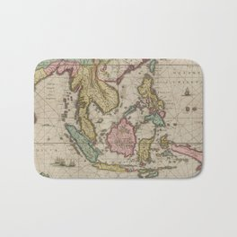 Vintage Map of Indonesia (1665) Bath Mat