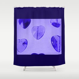 Abstract Purple Hearts Shower Curtain