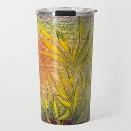 Palm (self-painted) by Nico Bielow Travel Mug
