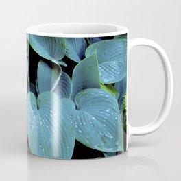 GREEN LEAVES WITH RAIN-DROPS Coffee Mug