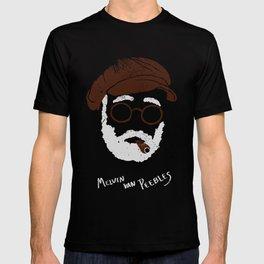 Melvin Van Peebles Minimalist Portrait T-shirt