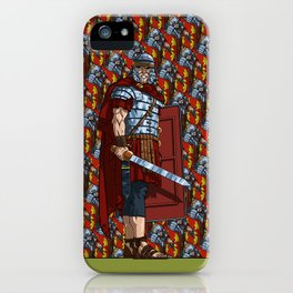 Gladiators and Soldiers of Rome. iPhone Case