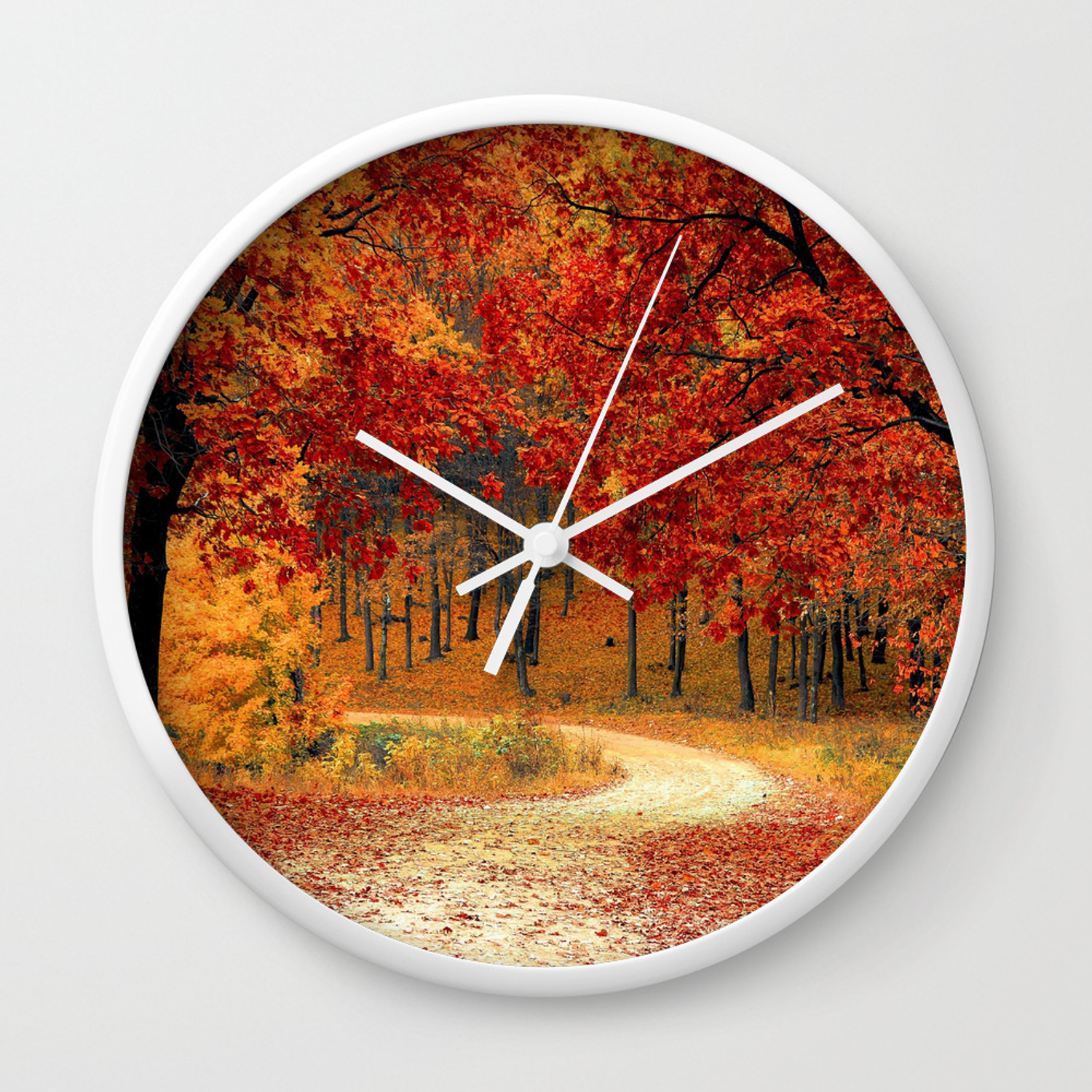 foto de Autumn Landscape 1   Paysage d'Automne 1 Wall Clock by ...